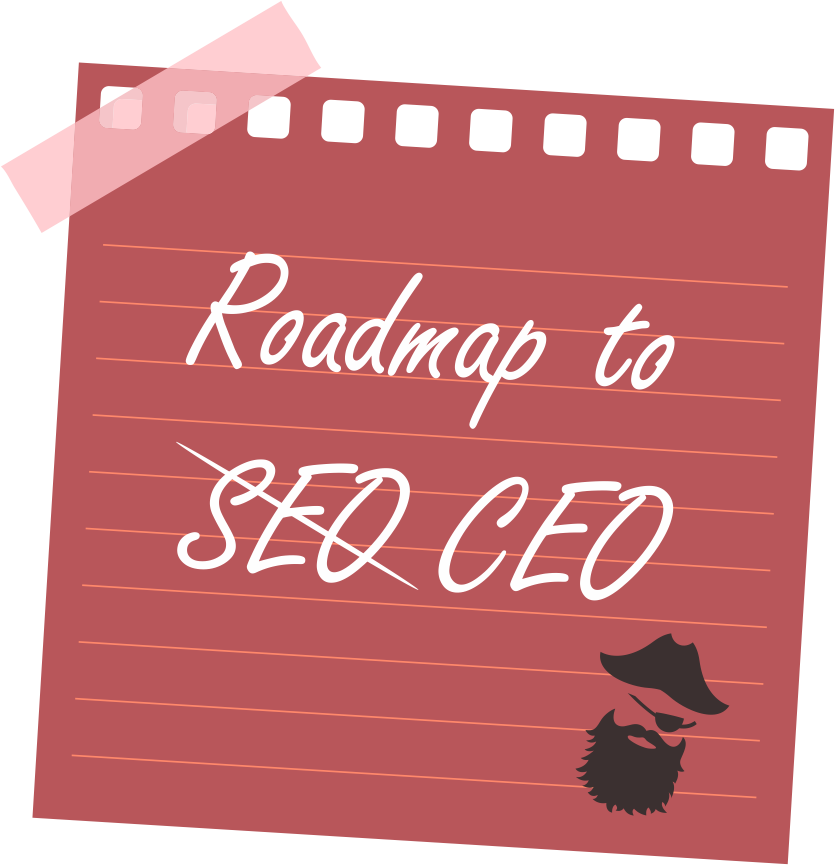 Sticker with Roadmap to CEO caption
